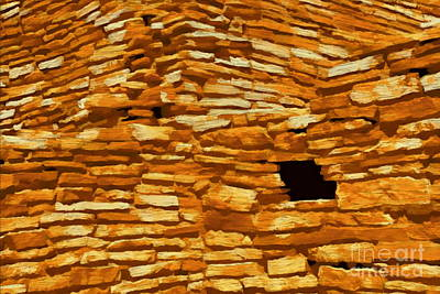 Digital Art - Wupatki Masonry 2 by Tim Richards