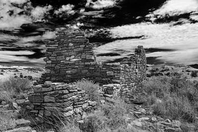 Photograph - Wupatki National Monument Box Canyon  Ruins by Chris Bordeleau