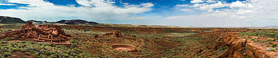 Photograph - Wupatki Pueblo Panorama by Chris Bordeleau