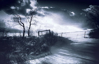 Wuthering Heights Snowscape Art Print