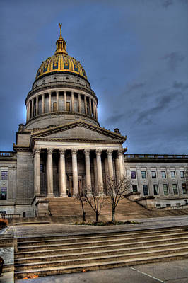Wv Capital Building 2 Art Print by Jonny D