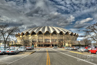 Photograph - Wvu Basketball Coliseum Arena In Daylight by Dan Friend