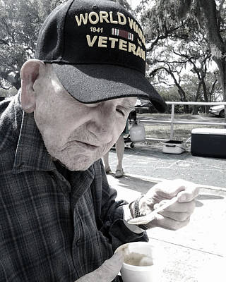 Digital Art - World War  II Veteran by Steve Sperry