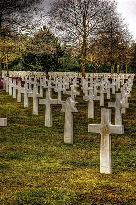 Photograph - Ww II War Memorial Cemetery by Elf Evans