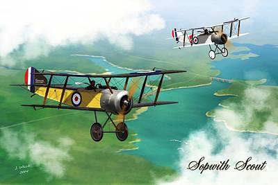 Ww1 British Sopwith Scout Art Print