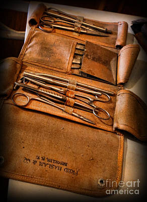 Photograph - Ww2 Field Surgical Suture Kit - Ww2 by Lee Dos Santos