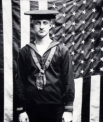 Photograph - Wwi American Navy Sailor by Historic Image