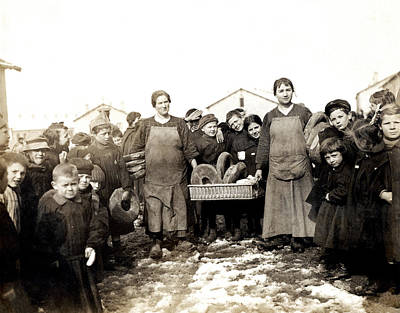 Photograph - Wwi Bread For French War Orphans by Historic Image