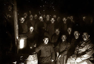 Photograph - Wwi Christmas For German Soldiers by Historic Image