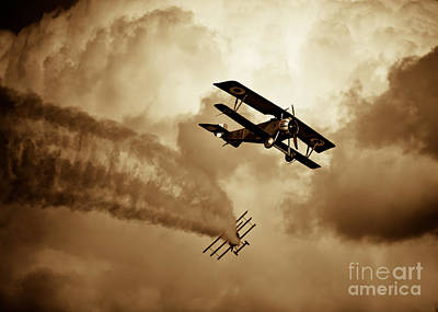 Photograph - Wwi Dog Fight by Rastislav Margus