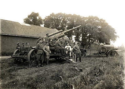Photograph - Wwi German Anti Aircraft Gun by Historic Image