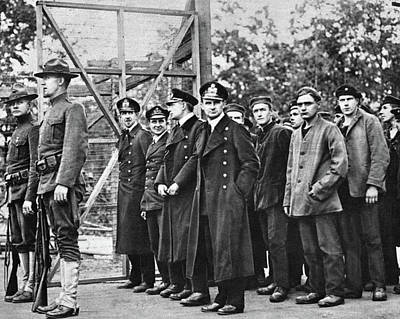 Photograph - Wwi German Prisoners, 1917 - To License For Professional Use Visit Granger.com by Granger