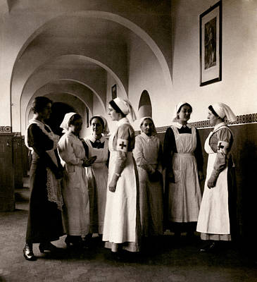 Photograph - Wwi German Red Cross Nurses by Historic Image