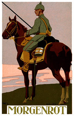 Painting - Wwi German Uhlan by Historic Image