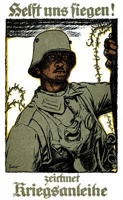 Painting - Wwi German War Bond Poster by Historic Image