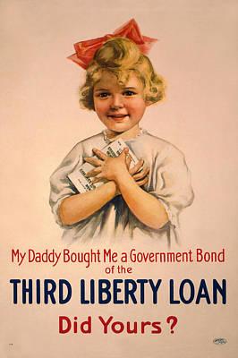 Propaganda Digital Art - Vintage Bond Girl by Gary Bodnar