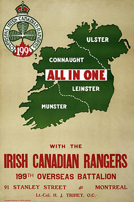 Connaught Painting - Wwi Ireland, C1915 by Granger