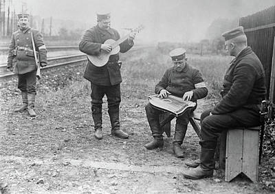 Wwi Musicians, 1914 Art Print