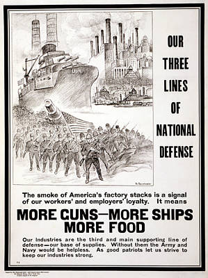 American Food Painting - Wwi Poster, 1917 by Granger