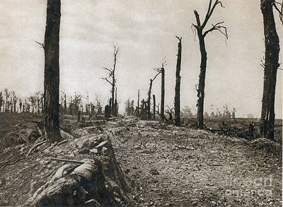 Somme Photograph - Wwi, Ruins Of Somme, 1916 by Photo Researchers