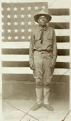 Doughboy Photograph - Wwi Soldier, C1916 by Granger