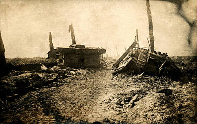 Photograph - Wwi Tank Ruins by Historic Image