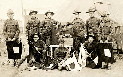 Doughboy Photograph - Wwi Us Army Signal Corps by Historic Image