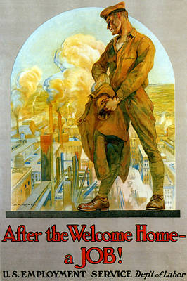 Photograph - Wwi, U.s. Employment Service Poster by Science Source