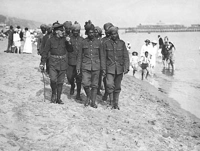 1917 Photograph - Wwi Wounded Indian Soldiers by Underwood Archives