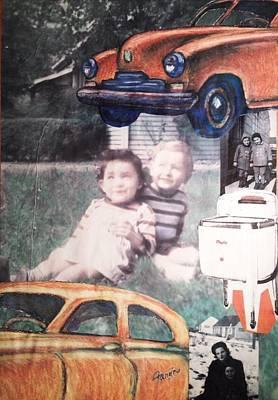 Little Girl Mixed Media - Wwll Americana Part Ill by Mary Fanning