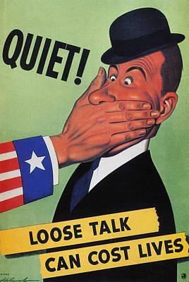 Wwii: Careless Talk Poster Art Print