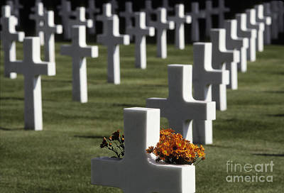 Photograph - Wwii Cemetery, Italy by Ron Sanford