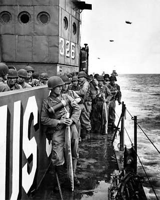 Photograph - Wwii D Day Landing by Historic Image