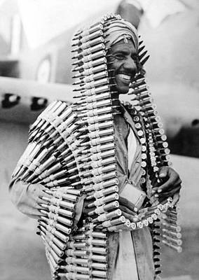 Libya Photograph - Wwii Fighters In Africa by Underwood Archives