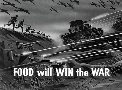 Nutrition Drawing - Wwii Film Strip, 1942 by Granger