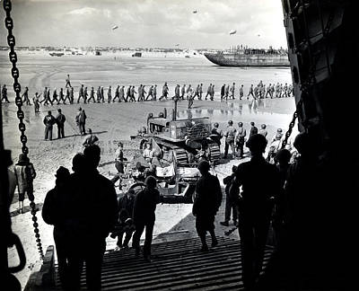 Photograph - Wwii German Prisoners At Normandy by Historic Image