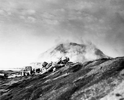 Usmc Photograph - Wwii Iwo Jima Beachhead  by Historic Image