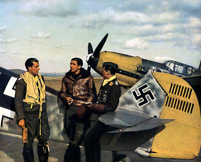 Painting - Wwii Luftwaffe Pilots by Historic Image