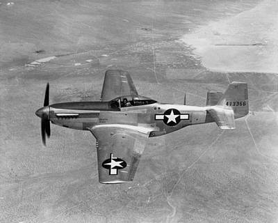 P51 Mustang Photograph - Wwii: Mustang Fighter by Granger
