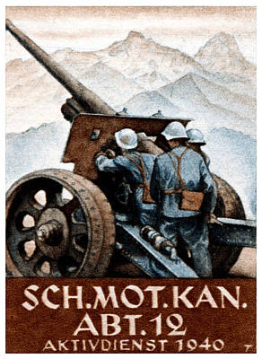 Painting - Wwii Swiss Artillery Regiment by Historic Image