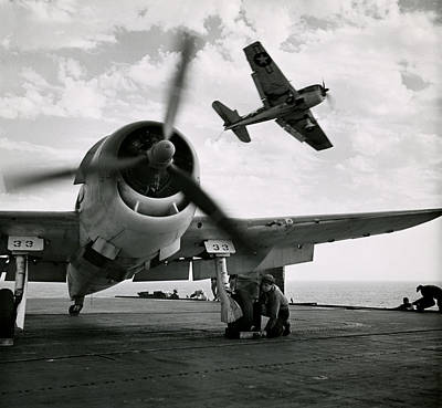 Hellcat Photograph - Wwii Us Navy Hellcats by Historic Image
