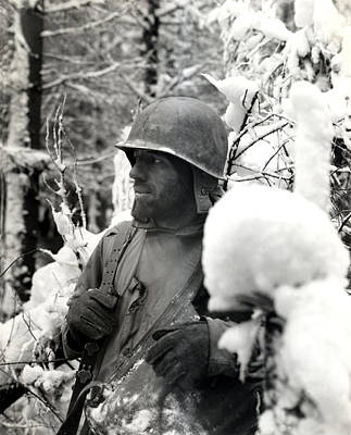Photograph - Wwii Veteran Of Bastogne  by Historic Image