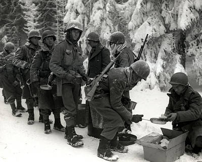 Photograph - Wwii Veterans Battle Of The Bulge by Historic Image