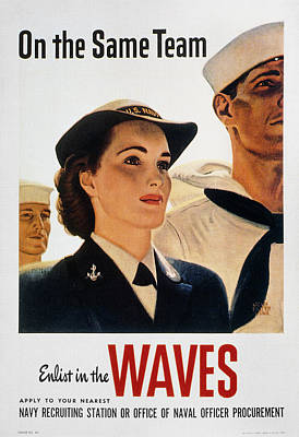 Photograph - Wwii: Waves Poster by Granger