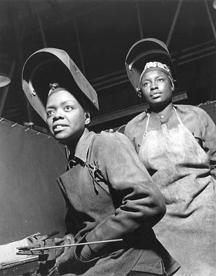 Wwii Women Welders At The Landers Art Print by Granger