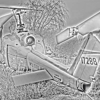 Helicopter Photograph - #wwll #helicopter by Miguel MGS