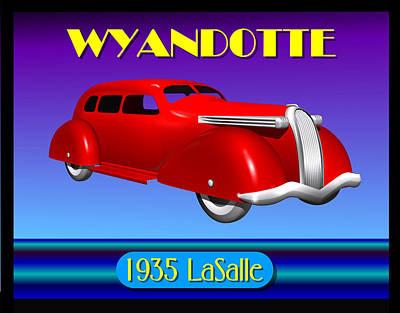 Wyandotte 1935 Lasalle Original by Stuart Swartz