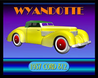 Wyandotte 1937 Cord 812 Original by Stuart Swartz