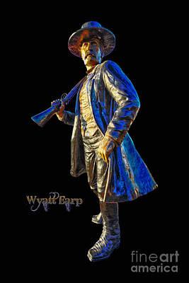 Wyatt Earp Photograph - Wyatt Earp Statue Hdr Poster by Andreas Hohl