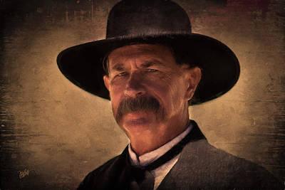 Wyatt Earp Digital Art - Wyatt by Michael Petrizzo
